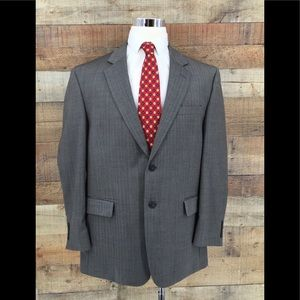 Jos A Bank 100% Wool Gray Herringbone Sport Coat